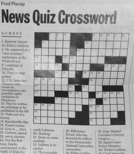 Judge Spencer Eig featured in Time Magazine Crossword Puzzle – April 24, 2000